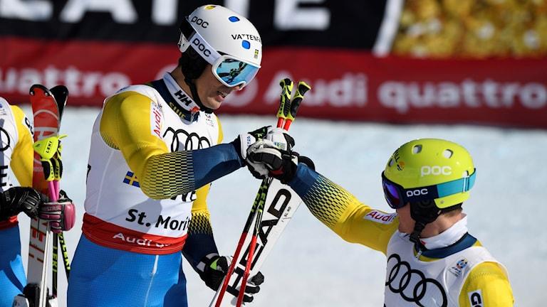 André Myhrer och Mattias Hargin gjorde båda ett bra första åk.
