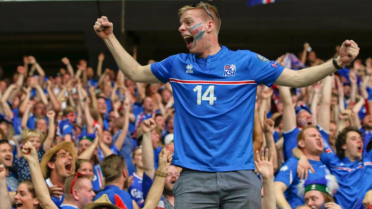isländska supportrar