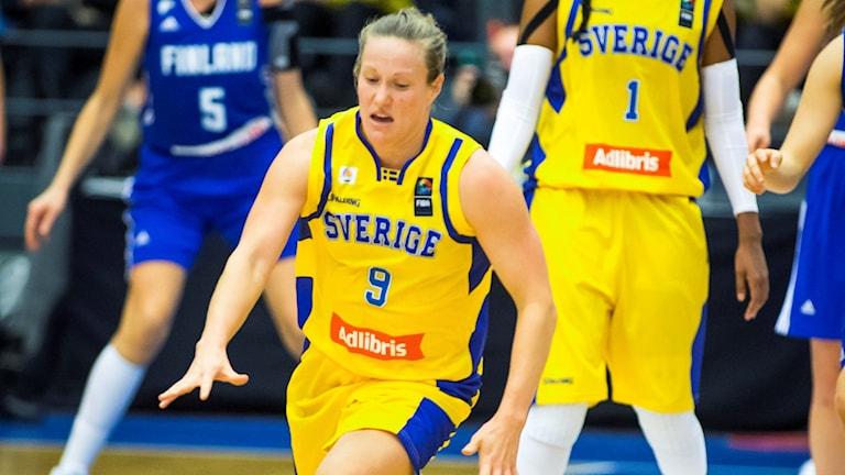 Elin Eldebrink i landslaget.