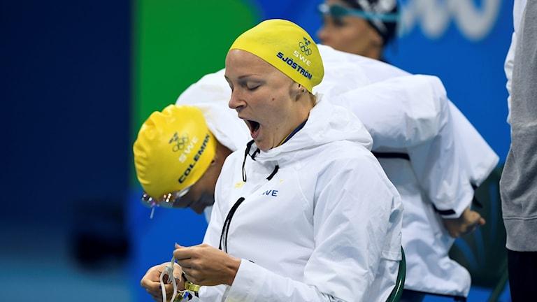 Sarah Sjöström under Rio-OS – som också påverkades av tv-tider.