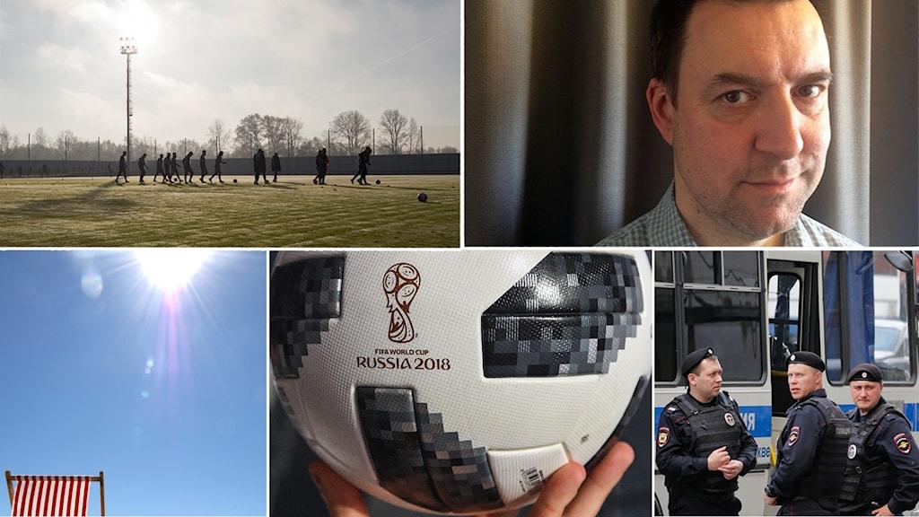 Sömniga städer, 40 graders värme och kravallpoliser kan vänta svenska fans på VM tror Fredrik Wadström.