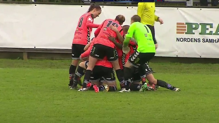 Det blev stort jubel när Kristianstad satte 3–2.