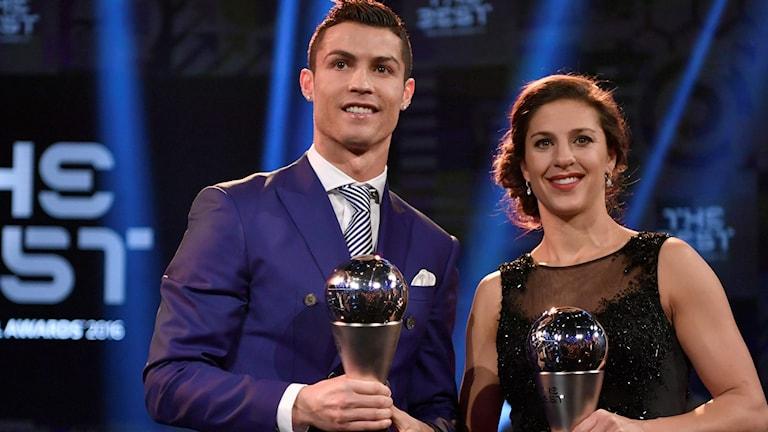 Großhandel kauf verkauf noch nicht vulgär Carli Lloyd och Cristiano Ronaldo vann Fifa-pris ...