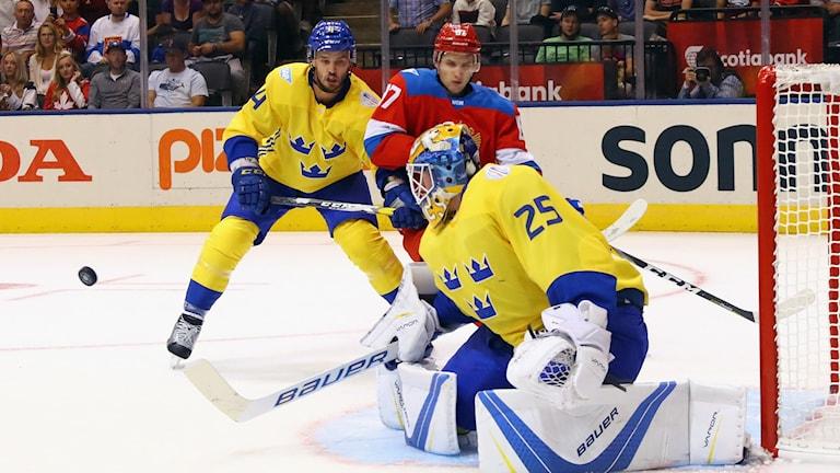 Markström vaktar målet.
