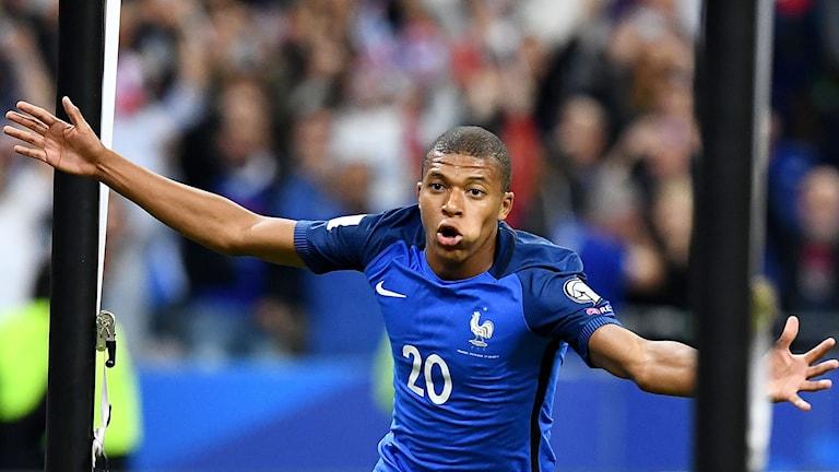 Kylian Mbappé gjorde Frankrikes fjärde och sista mål.