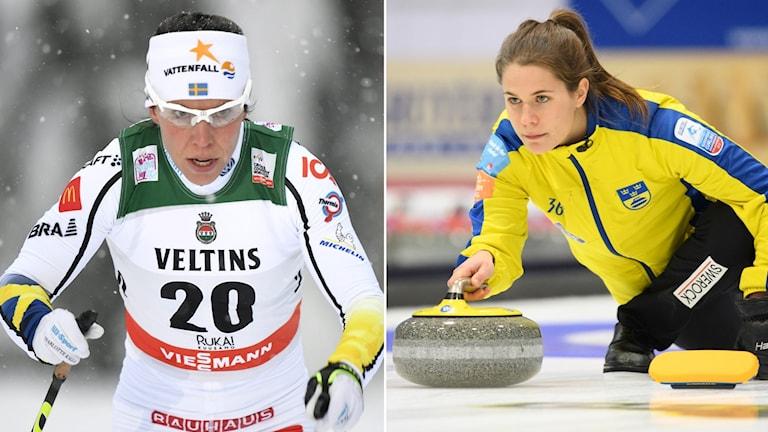 Skidor och curling i dagens sportsändningar.