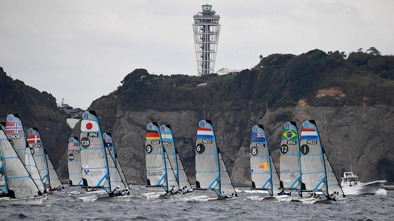 Sverige blev trea i 49er FX där OS ska avgöras 2020.