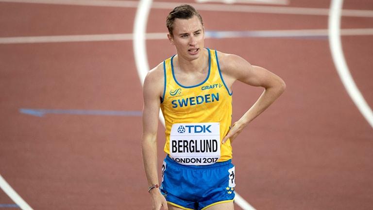 Kalle Berglund efter VM-semifinalen.