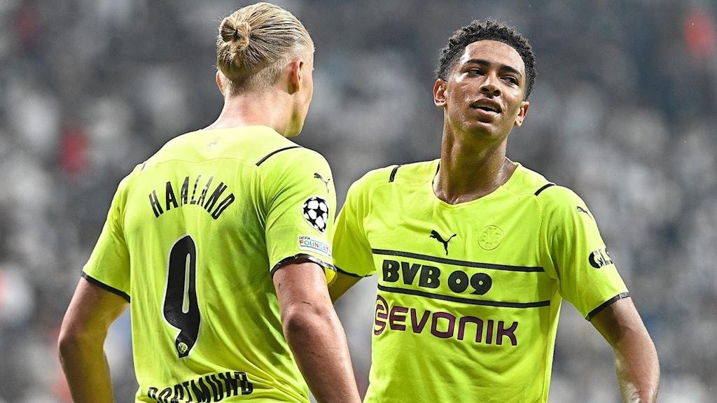 Erling Braut Haaland och Jude Bellingham i Dortmund.