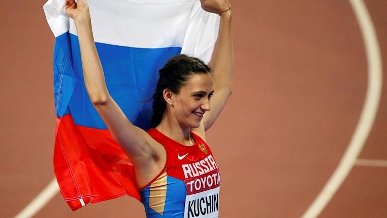 Höjdhopparen Maria Kuchina är en av sju ryska friidrottare som får tävla i VM.