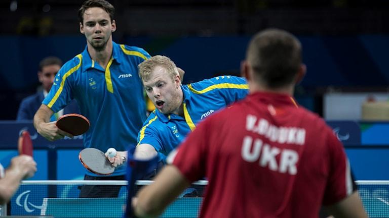 Sverige tog medalj i bordtennis.