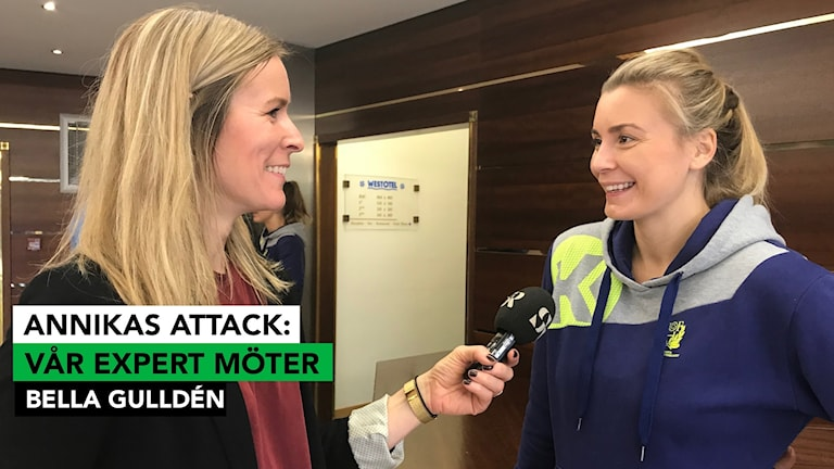 Radiosportens expert Annika Wiel Hvannberg möter Bella Gulldén