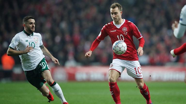 Christian Eriksen och hans Danmark fick inte hål på Irland.