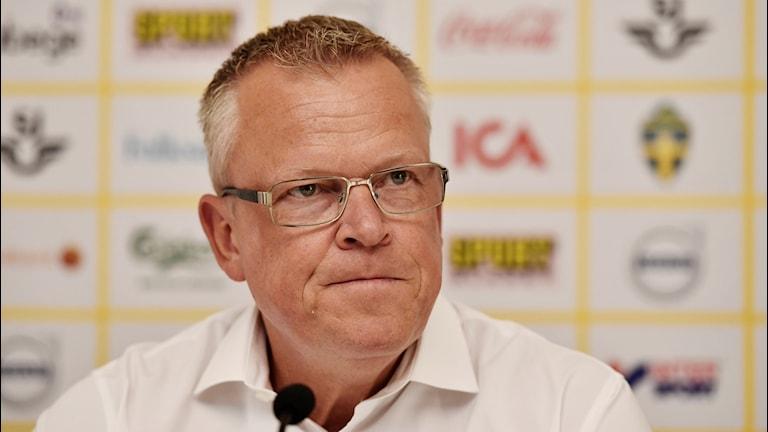 Janne Andersson efter VM. Foto: Erik Simander/TT