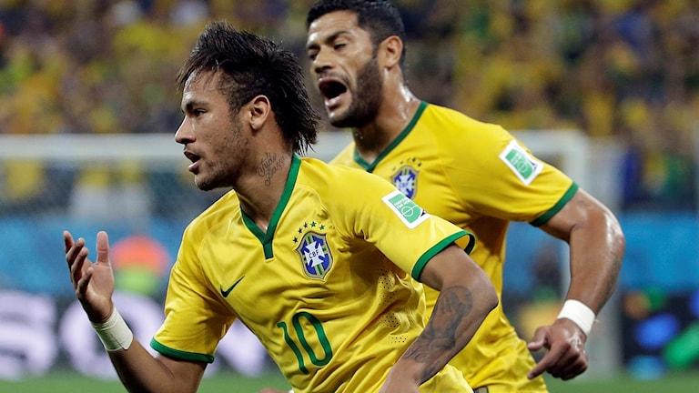 Neymar målskytt i VM-premiären för fyra år sedan.