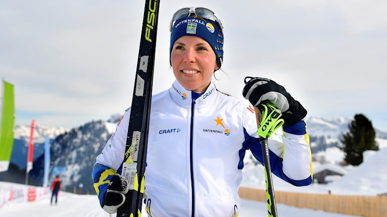 Charlotte Kalla njuter i Seiser Alm.