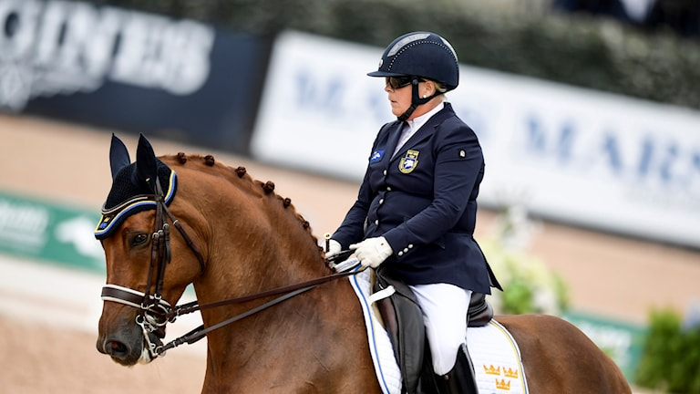 Louise Etzner Jakobsson på hästen Zernard.
