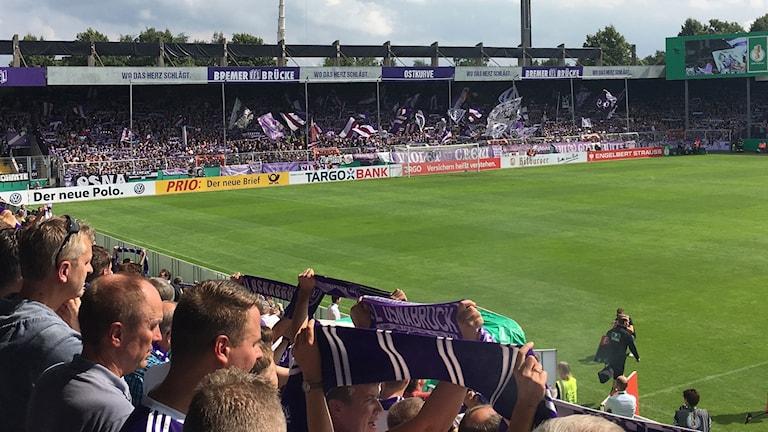 Tredjeligaklubben Osnabrücks hemmastadion Bremer Brücke var fullsatt med stämning i hög allsvensk klass.