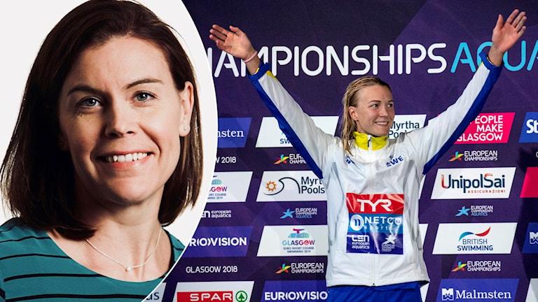 Anna-Karin Kammerling och Sarah Sjöström.