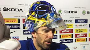 Henrik Lundqvist efter VM-matchen mot Danmark.
