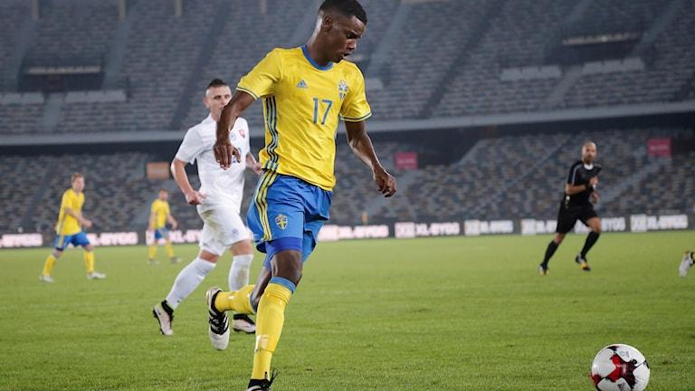 Alexander Isak under A-landslagets januariturné.