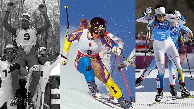 Collage kvinnliga medaljer i vinter-OS