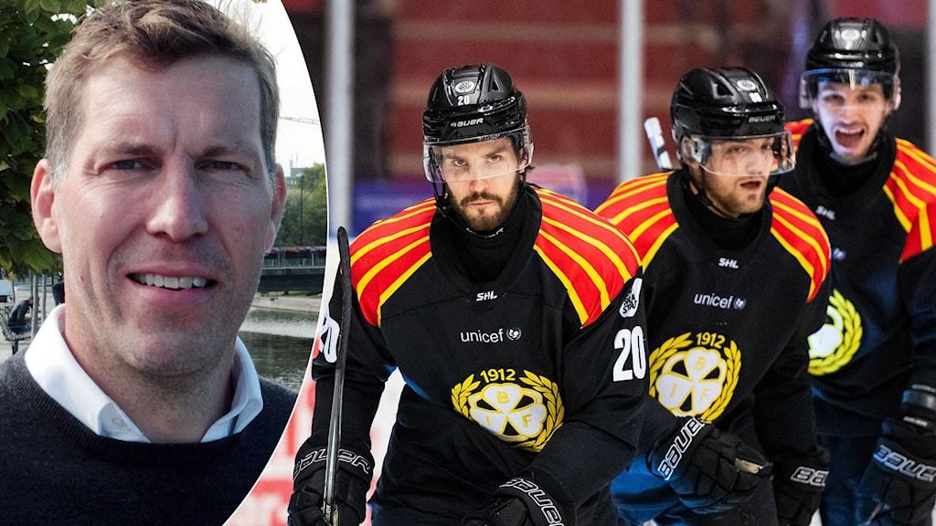 Per Svartvadet och Brynäs. Foto: SR och Anders L Eriksson/Bildbyrån