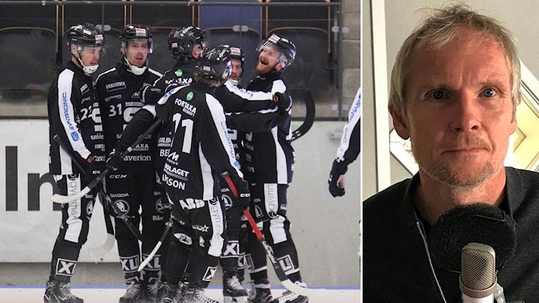 Sandvikenjubel och Göran Rosendahl.