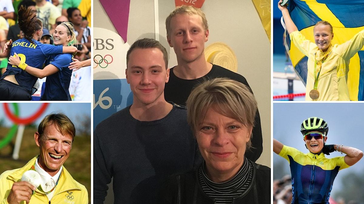 Alexander Lundholm, Richard Henriksson och Malin Fransson i mitten.