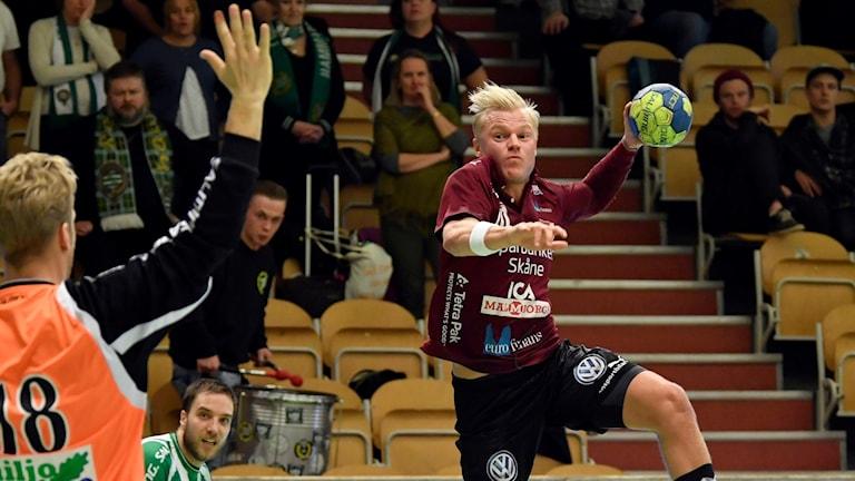 Lugis Hampus Jildenbäck i match mot Hammarby.