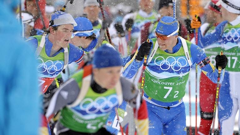 OS 2010 stafett skidskytte. Foto: Janerik Henriksson / TT