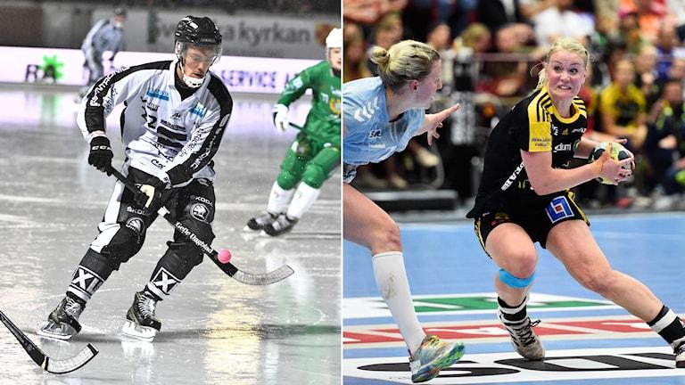 Bandy och handboll i kvällens Sportextra.