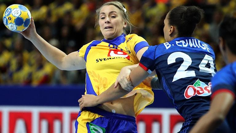Handbolls-EM 2016: Sverige föll, 19-21, mot Frankrike i Göteborg.