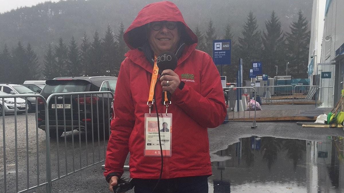 Roger Burman i regnigt Pyeongchang