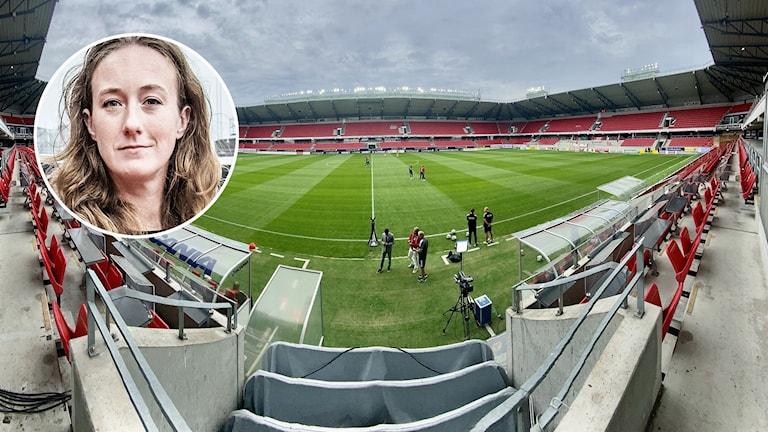 Cecilia Åkesdotter / tom fotbollsarena.