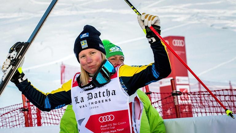 Sandra Näslund vann säsongens första världscuptävling.