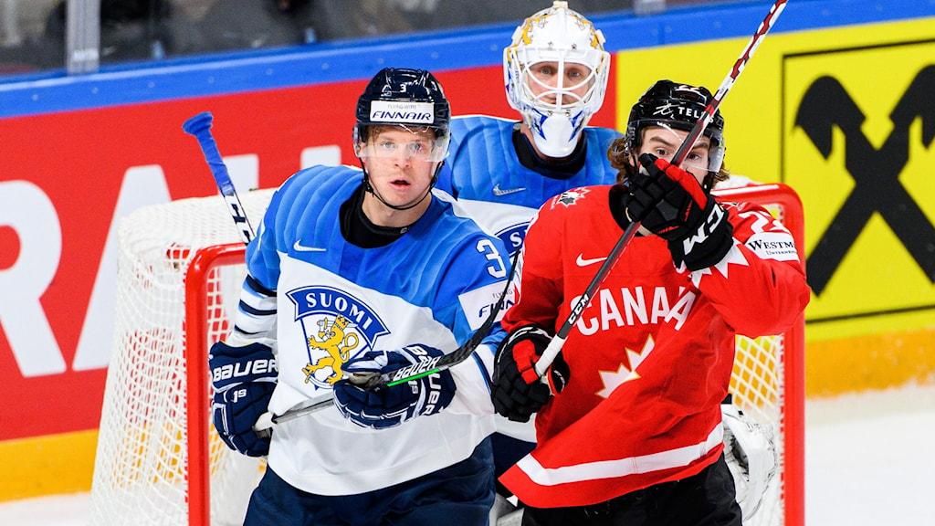 Finland och Kanada i hockey-VM 2021.
