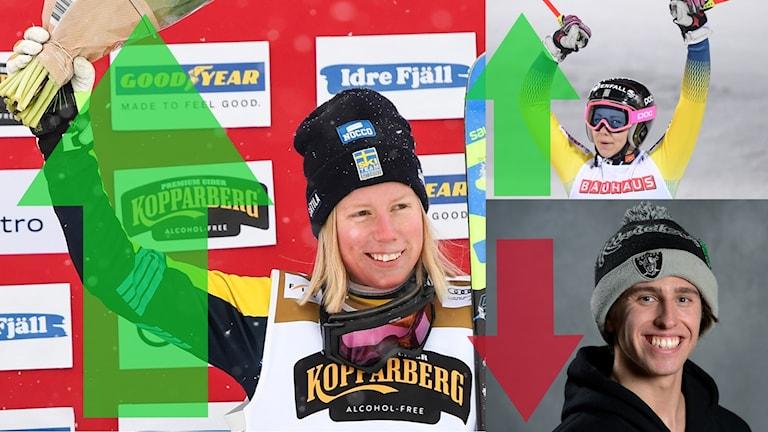 Sandra Näslund, Hansdotter och Harlaut har alla bra positioner på Radiosportens medaljbarometer
