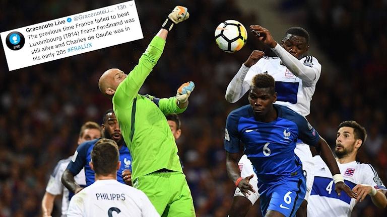VM-kval 2017 Luxemburg kämpar mot Frankrike