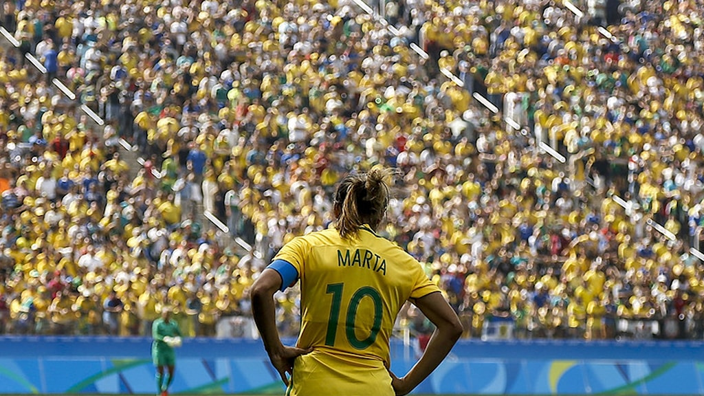 20160819 Brasiliens Marta under bronsmatchen mot Kanada. Foto: Miguel Schincariol/AFP photo