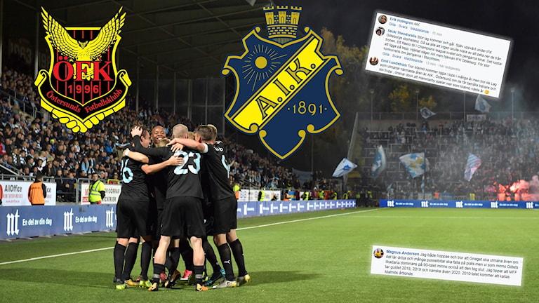 Östersund och AIK är två lag som kan hota Malmö FF, tror Radiosportens publik.
