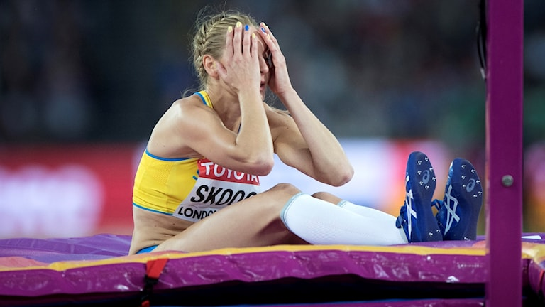 Sofie Skoog deppar efter kvalmissen.