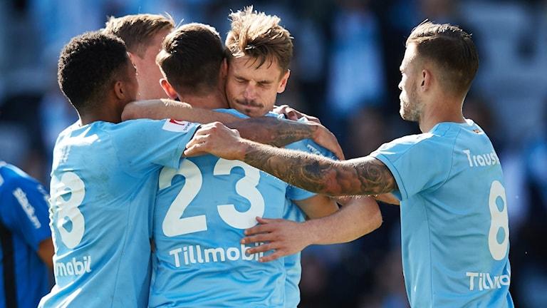 Jubel efter Malmös Markus Rosenberg satt straff