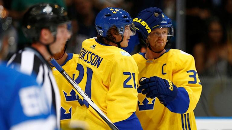 Loui Eriksson och Henrik Sedin.