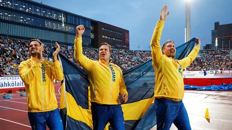 Simon Pettersson, Daniel Ståhl och Axel Härstedt.