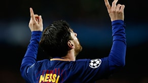 Barcelona's Lionel Messi celebrates after scoring the opening goal during the Champions League round of sixteen second leg soccer match between FC Barcelona and Chelsea at the Camp Nou stadium in Barcelona, Spain, Wednesday, March 14, 2018. (AP Photo/Manu Fernandez)