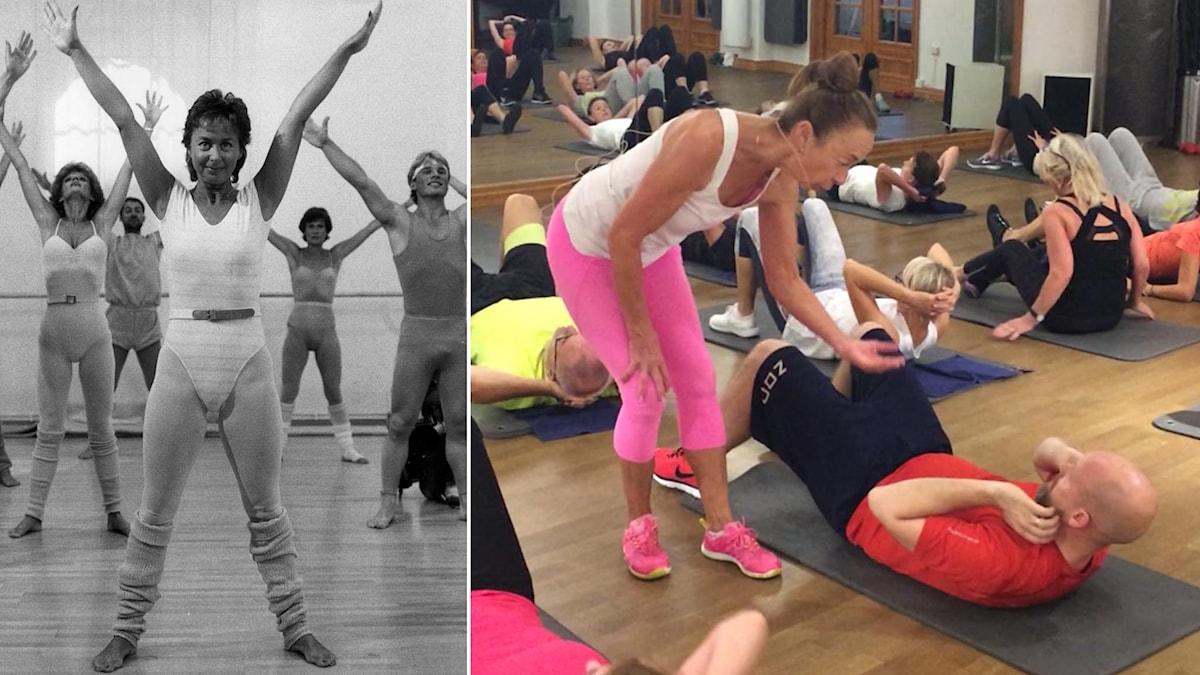 Susan Lanefelt gjorde revolution 1983 – 2016 leder hon fortfarande träningspass.