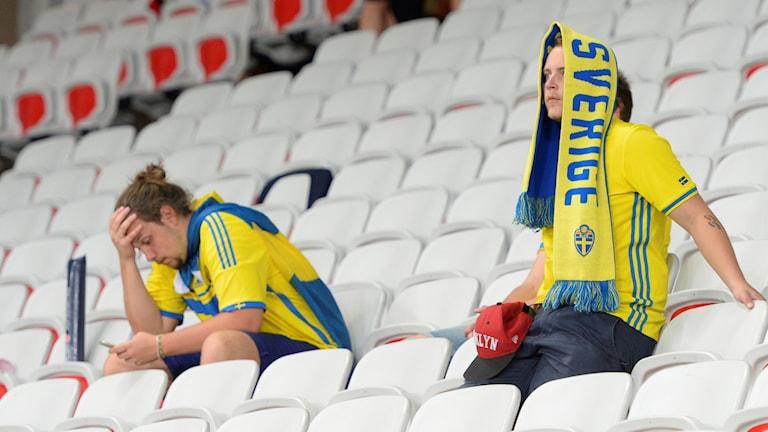 Besvikna fans i Nice.