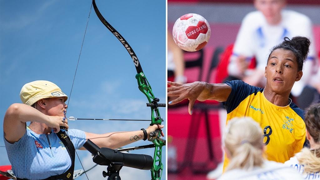 Bågskytte och handboll under torsdagen