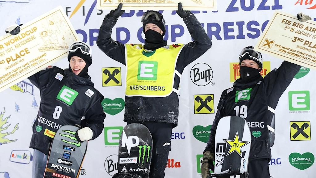 Sven Thorgren kom tvåa i Kreischberg.